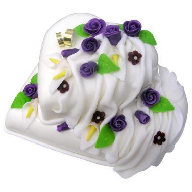 Svatební dort s fondantovým přehozem - Svatební dorty pro Vás