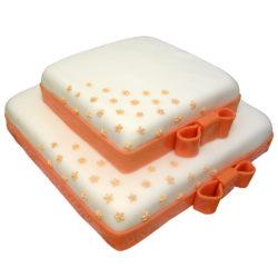 Svatební dort s mašlemi - Svatební dorty pro Vás