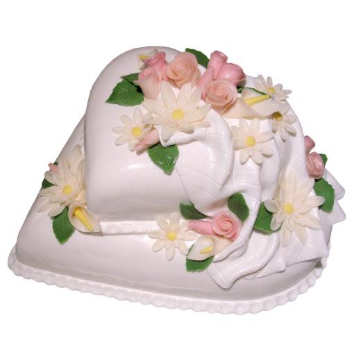 Svatební dort Srdce - Svatební dorty pro Vás