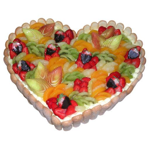 Ovocný dort Srdce - Narozeninové dorty pro Vás