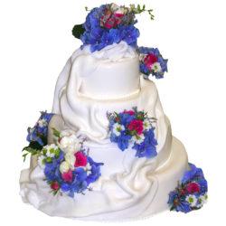 Svatební čtyřpatrový dort - Svatební dorty pro Vás