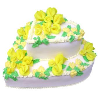 Svatební dort Srdce s růžemi - Svatební dorty pro Vás