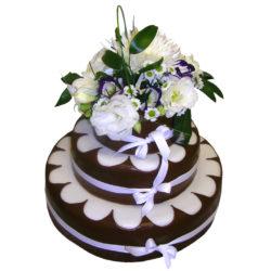 Svatební dort s živými květy - Svatební dorty pro Vás