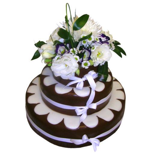 Svatební dort s živými květy - Svatební dorty pro Vás Praha