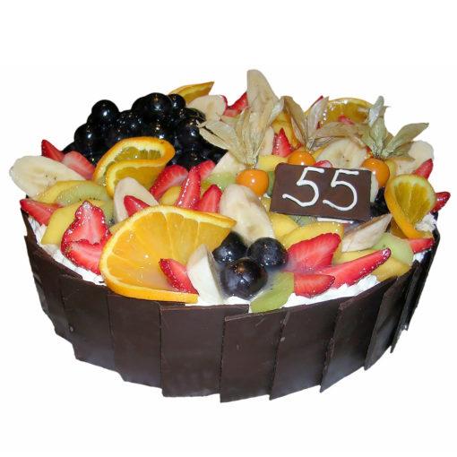 Ovocný dort s čokoládou - Ovocné dorty Praha