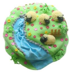 Dětský dort Ovečky - dětské dorty Praha