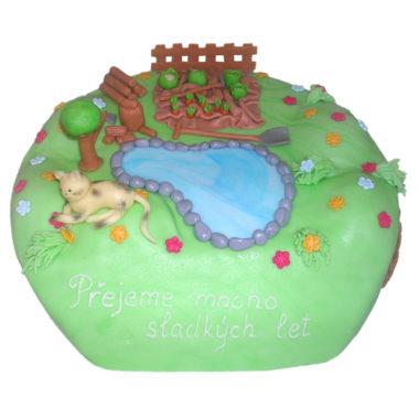 Dětský dort Zahrádka - dětské dorty Praha