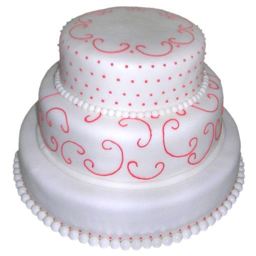 Svatebni dort jemně zdobený - svatební dorty Praha