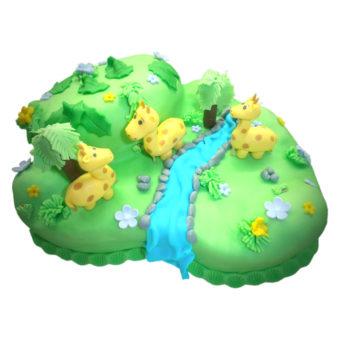 Dětský dort sžirafami  - dětské dorty Praha
