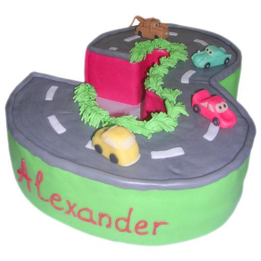 Dětský dort AUTA