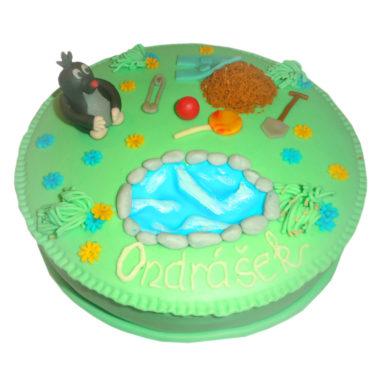 Dětský dort Krteček - dětské dorty Praha