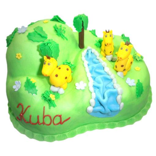 Dětský dort Žirafy - dětské dorty Praha