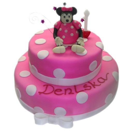 Dvoupatrový narozeninový dort Minnie