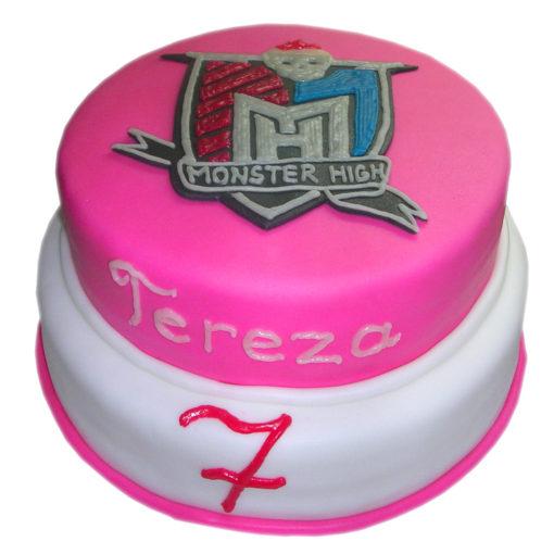 Dvoupatrový narozeninový dort MONSTER HIGH