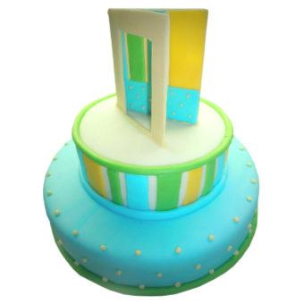 Dvoupatrový narozeninový dort s přáním - narozeninové dorty Praha
