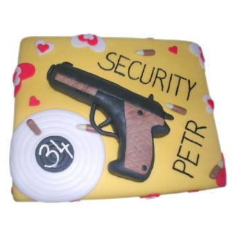 Narozeninový dort Security - narozeninové dorty Praha