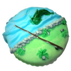 Rybářský narozeninový dort - narozeninové dorty Praha