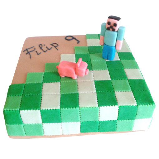 Dětský dort Minecraft