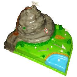 Turistický narozeninový dort