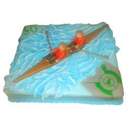 Veslařský narozeninový dort