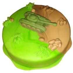 Dětský dort Tank