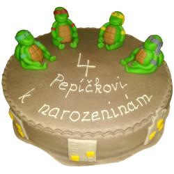 Dětský dort Želvy Ninja