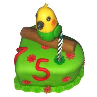 Narozeninový dort Papoušek