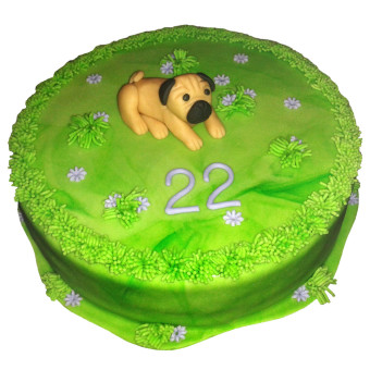 Narozeninový dort Pes