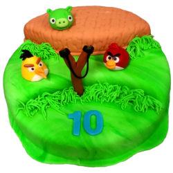 Dětský dort Angry Birds