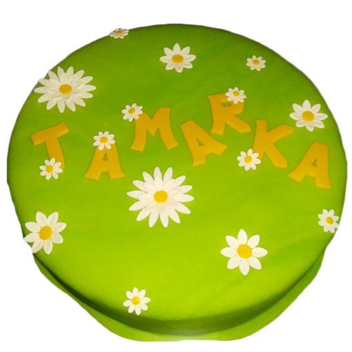 Dětský dort rozkvetlá louka