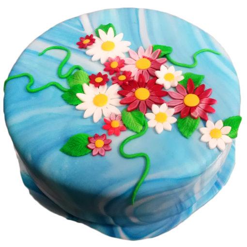 Květinový narozeninový dort