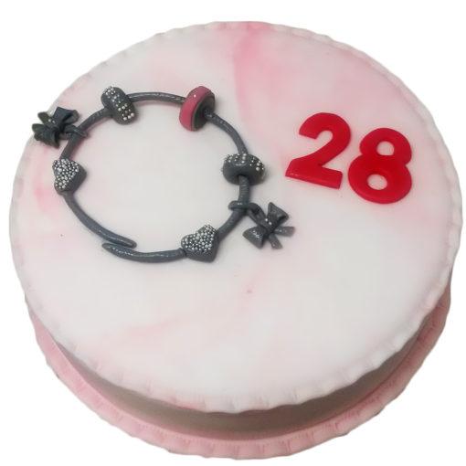 Narozeninový dort náramek
