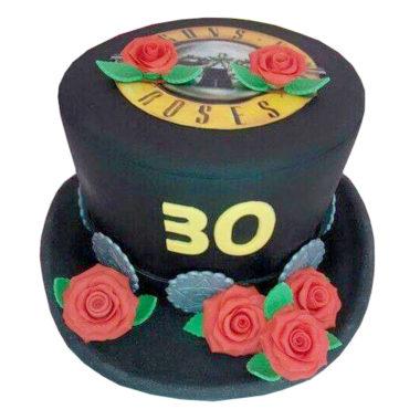 Potahovaný dort Guns N' Roses