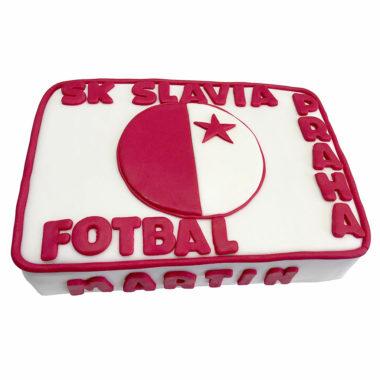 Slávia fotbalový dort