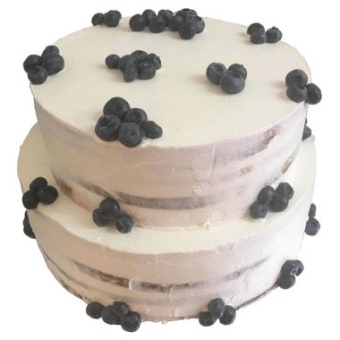Svatební dort s borůvkami